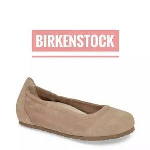 New In Box Birkenstock Celina II Taupe Suede EU39